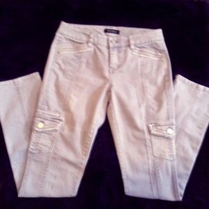 WHBM Gray embellished jeans sz 2